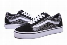 b257385210 Vans Old Skool Kris Black White Womens Shoes