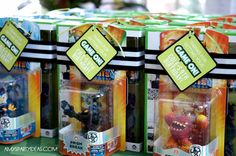   Game Truck Party Ideas from AmysPartyIdeas.com   #gametruck #videogame #party #ideas: The Favors