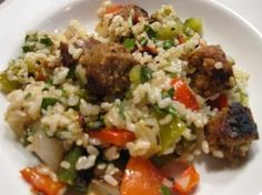 Brown Rice Salad With Field Roast Italian Sausage, Peppers,