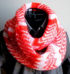 chevroid scarf - free pattern
