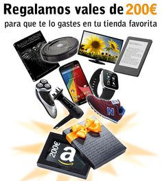 Sorteo vales regalo de 200€ de Amazon
