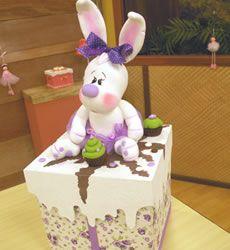 Aprenda fazer uma coelha de biscuit passo a passo