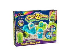 Its Amazing Cra Z Sand Kinetic Moon Sand, Glow Sand Space Play Set #crazsand