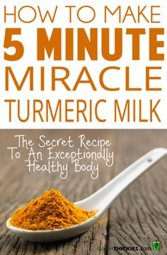 5 Minute Miracle Turmeric Milk Recipe