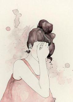 Ink & Water color by emma leonard