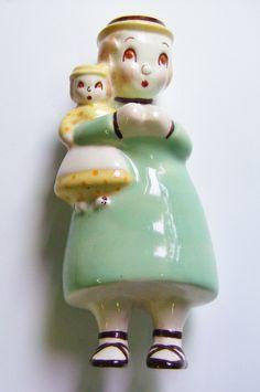 Vintage 1940's Brayton Laguna Pottery Figurine Rare by parkledge on Etsy