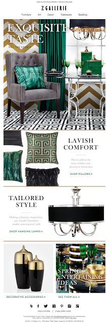 Z Gallerie email design 2014