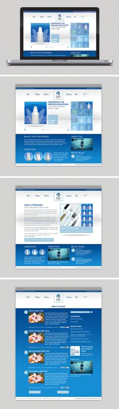 Website designed for make-up packaging company, TaikiUSA Packaging Company, Brand Building, Digital Marketing, Website, Design, Design Comics
