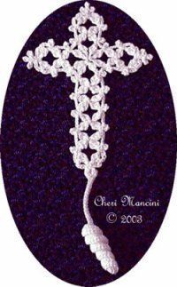Free Crochet Pattern: Fancy Cross Bookmark