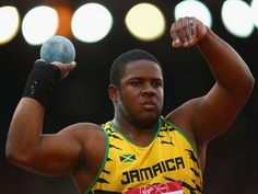 O'dayne Richards of Jamaica competes in the Men's Shot Put final at Hampden Park during day five of the Glasgow 2014 Commonwealth Games on July 28, 2014