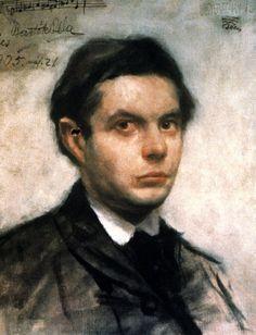 BARTÓK Béla. Oil Painting By István Vedrődy-Vogyeraczky, 1904