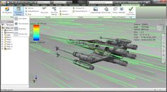 Demo of Autodesk Project Falcon with #StarWars X-Wing fighter