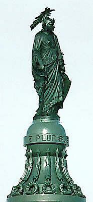 """""""Statue of Freedom"""" atop the US Capitol building, 1860s. Based on the Iroquois Sky Woman creation story."""