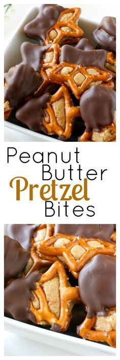Peanut Butter Pretzel Bites - this chocolate peanut butter pretezel treat is perfect for Christmas! And quick and easy to make!