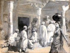 In the Bazaar, Oudeypore by Edwin Lord Weeks