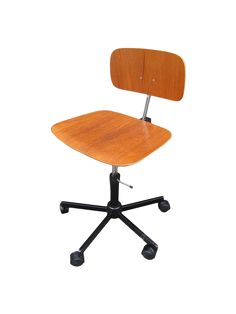 bce7c16d848c Mid Century desk chair in excellent condition. Adjustable seat height.  Maximum seat height 20.5