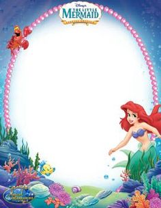 Little Mermaid Stationary | Disney's Free Digital Download Prizes from 2009 Magical Celebrations Sweepstakes | SKGaleana