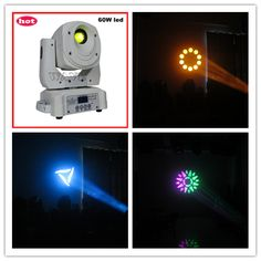 60w mini gobo moving head light stage effect robot①Channel: 16CH ②3-facet prism ③Color Wheel: 6 colors+ open ④Gobos: 6 rotating gobos + open www.wavestage.net