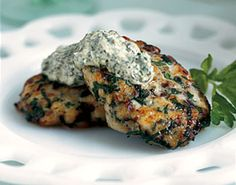Herbed Fish Cakes with Green Horseradish Sauce