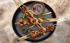 Japanese Chicken Meatballs with Ginger and Miso for grilling or Sumo Stew | epicurious Feb 2016