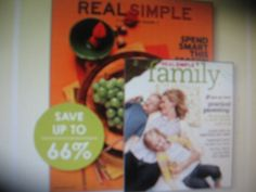 Twelve Monthly Issues of Real Simple Magazine Real Simple http://www.amazon.com/dp/B0040EYMCE/ref=cm_sw_r_pi_dp_nOnjxb1A20M5C
