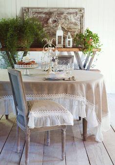 "Tovaglia misto lino ""Benedict Ecrù"" Blanc Mariclò. Dimensioni: 150 x 280 cm. Shop online:  www.petitreve.it/tovaglia-misto-lino-benedict-ecrù-blanc-mariclò"