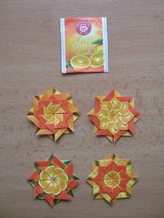 Stars aus Teebeuteln - Orange Tee | VašeDěti.cz