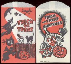 Halloween treat bags! Got these from everyone! Wish they were still around!