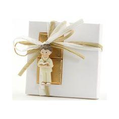 Iman niño comunión traje beig con 2 nap. chocolate