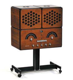 "The ""stereo radiophonograph"" Brionvega RR126 was designed in 1965 by the famous Milan-born designer and architect Achille Castiglioni (1918-2002),"