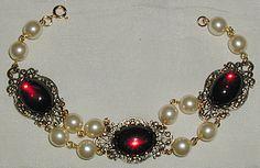 Renaissance Bracelet Color Choice, Pearl, Filigree   $35