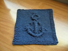 Add some nautical flair to your kitchen decor with this Anchors Away dishcloth. (Yarnspirations)