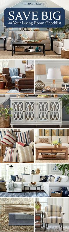 """Whether you're moving in for the first time or just ready to give your space a refresh, everything you need for the living room is here – and it's ON SALE. Sofas. Sectionals. Tables. Lighting. Plus rugs (to layer) and pillows, throws, and art (for that final flourish). Shop the Semi-Annual Sale at <a href="""""""" rel=""""nofollow"""" target=""""_blank""""></a> and enjoy Free Shipping every day on orders over $49…"""