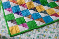 I love the quilting on this! Simple, yet different enough to stand out.