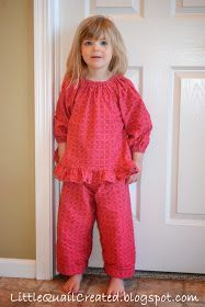 """The cutest little jammies for my """"someday"""" little daughter. Little Quail: Winter Pajama's Sewing Kids Clothes, Sewing For Kids, Baby Sewing, Diy Clothes, Toddler Pajamas, Girls Pajamas, Toddler Outfits, Kids Outfits, Trendy Baby Girl Clothes"""