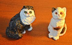 Items similar to Cat Figurines, Stone Critters, Calico, Tuxedo on Etsy Stocking Stuffers, Tuxedo, Owl, Bird, Black And White, Stone, Cats, Animals, Mothers