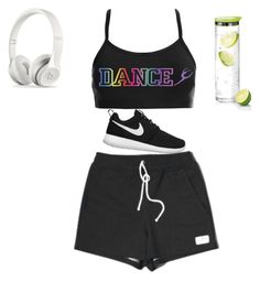 A fashion look from July 2015 featuring rainbow shirt, breathable shoes and water carafe. Browse and shop related looks. Gym Shorts Womens, Fashion Looks, Dance, Polyvore, How To Wear, Shirts, Stuff To Buy, Outfits, Clothes