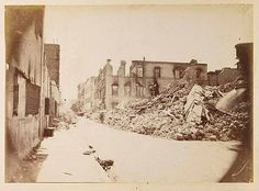 Le Nouveau Bazar After The British Bombardment of Alexandria, Egypt in 1882