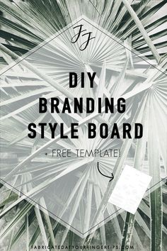 DIY Branding Style Board