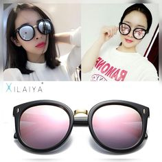 889ea43658 XILAIYA Luxury Polarized HD UV400 Gradient Mirror Round Ladies Sunglasses  05086. Lady