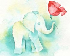 poppy and elephant tattoo - Google Search