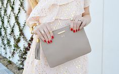 Girly look for Valentine's Day, and a chic clutch