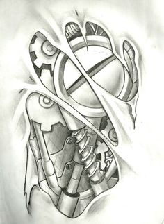 Mechanical Tattoo, Layout in Photoshop 9 hours of work