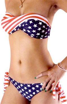 5285a7e0a8 National Flag Pattern Bandeau Top Bikini Set Style Code  13467  33.99 Order  Here  http