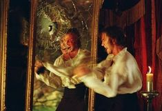 The Phantom of the Opera (2004). This set me crying when he started smashing the mirrors.