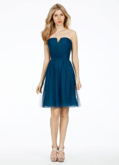 f6789b61f819 Cheap Fabulous Strapless Navy Blue V-neck Knee Length Bridesmaid Dress is  on Sale! Buy Fabulous Strapless Navy Blue V-neck Knee Length Bridesmaid  Dress at ...