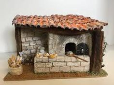 Four a pain Christmas Flowers, Christmas Decorations, Fontanini Nativity, Barbie Diorama, Medieval Houses, Christmas Nativity Scene, Creation Deco, Miniature Kitchen, Facade House