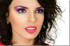 Znalezione obrazy dla zapytania 80s makeup