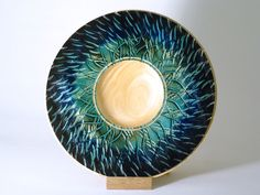 Blue flame - for sale http://woodturning.expert/Gallery/Wood%20Art%20Gallery%20Pieces.html