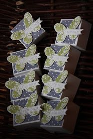 Polly kreativ: Vorerst die letzten - Teelichtverpackung Stampin up Schmetterling Famose Fähnchen